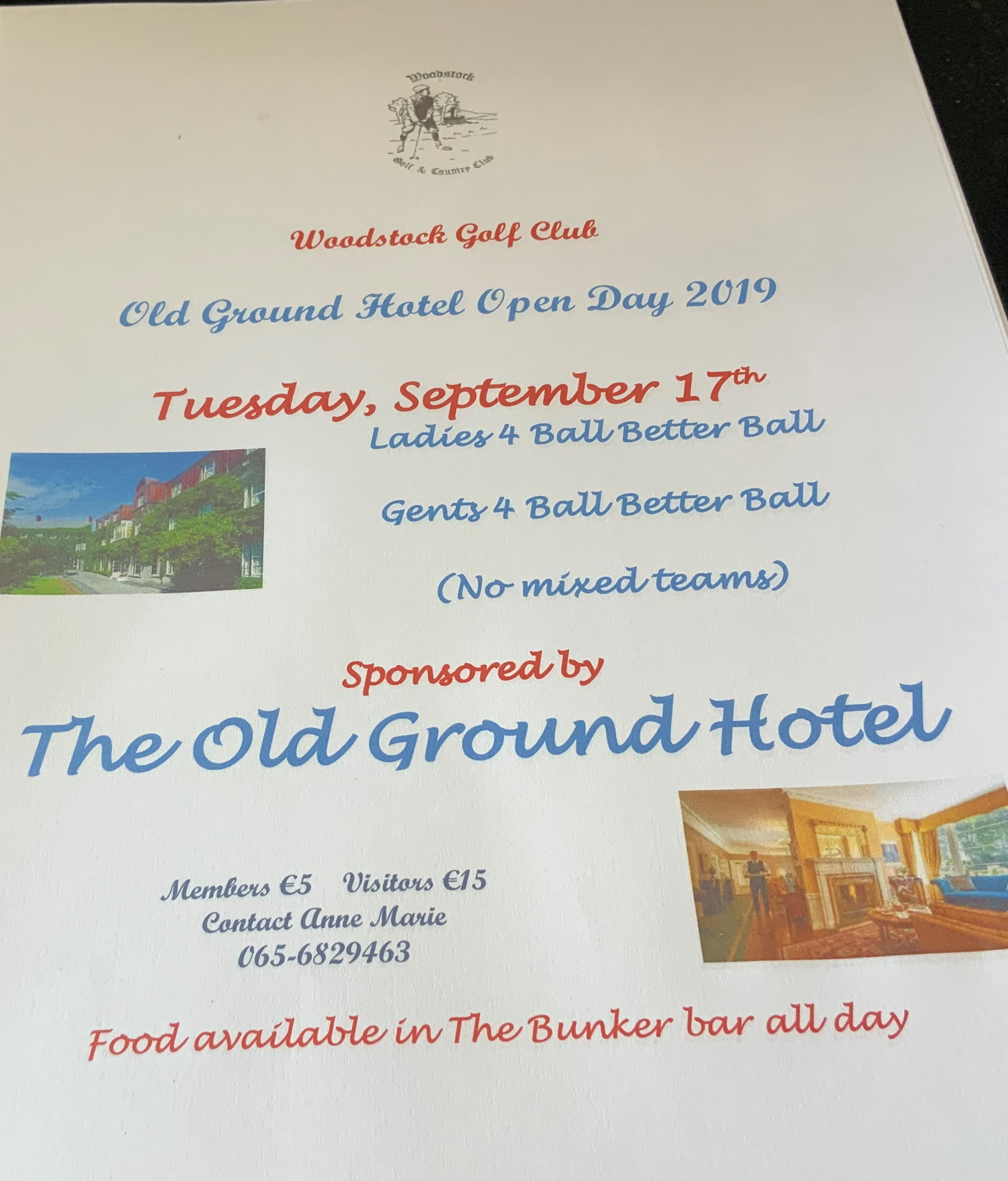 OLD GROUND HOTEL OPEN DAY